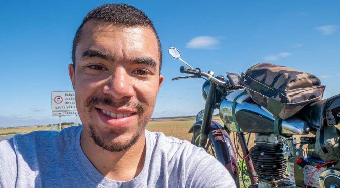 Quentin L'explorateur à moto et sa BSA