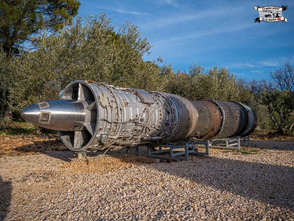 Turboréacteur Mirage 5BA 033, Chateau de Bosc - lexplorateuramoto.com