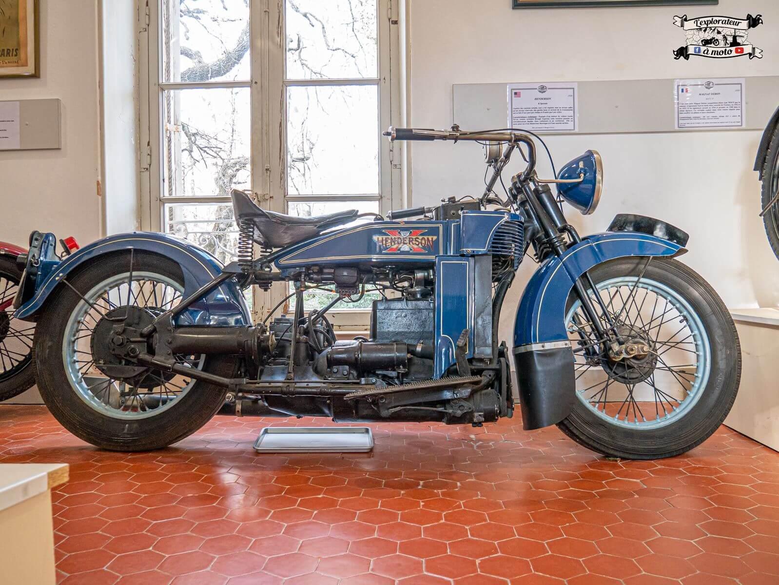 Henderson K Spéciale 1930, Château de Bosc 01 - lexplorateuramoto.com