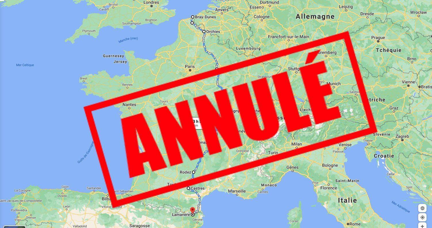 carte Bray-Dunes - Lamanère annulé