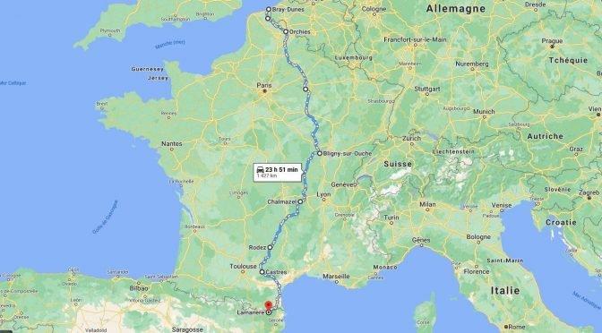 carte Bray-Dunes - Lamanère